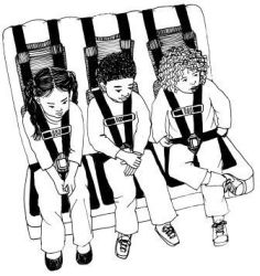 3 Kids on Bus Seat