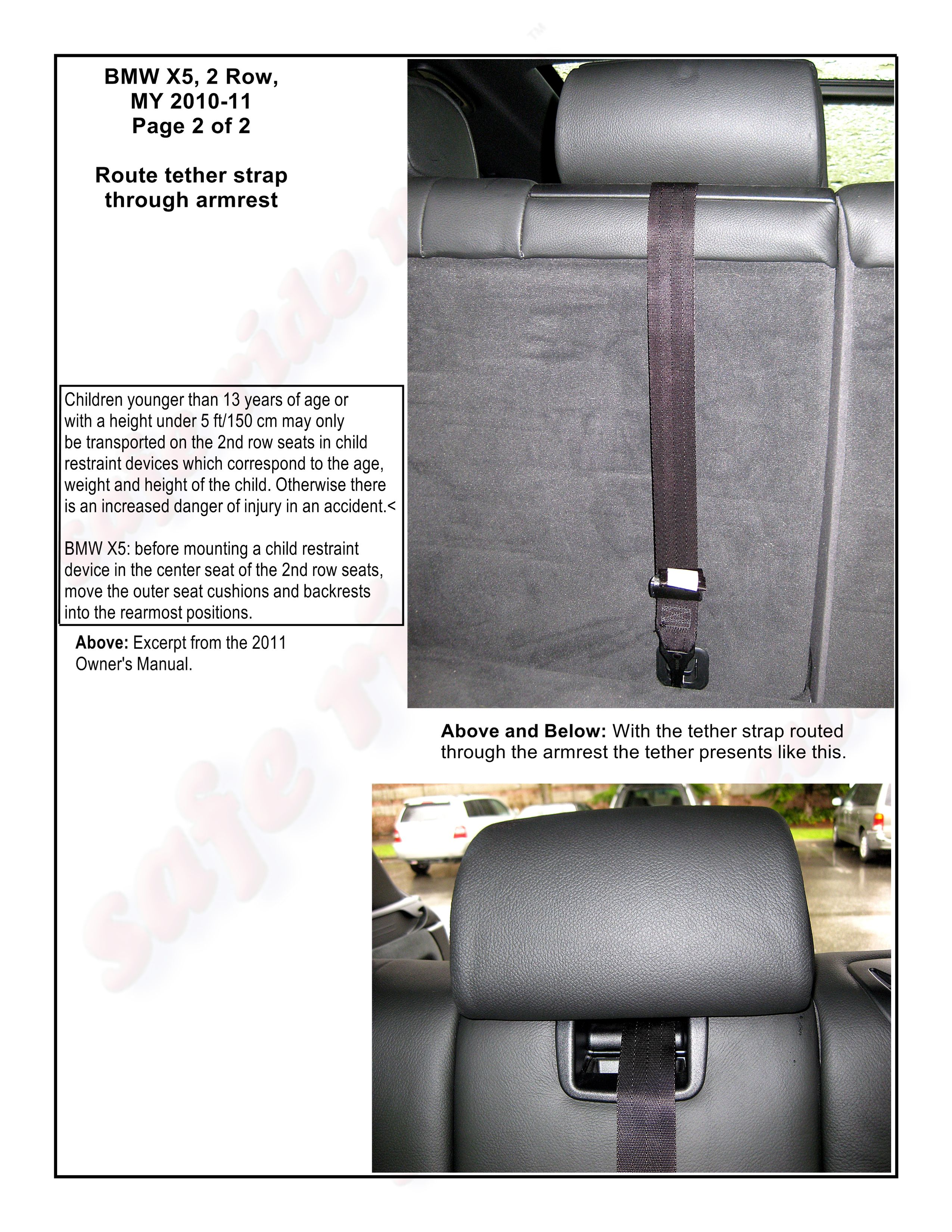 BMW X5, 2nd Row, MY 2010-2011, Page 2 of 2