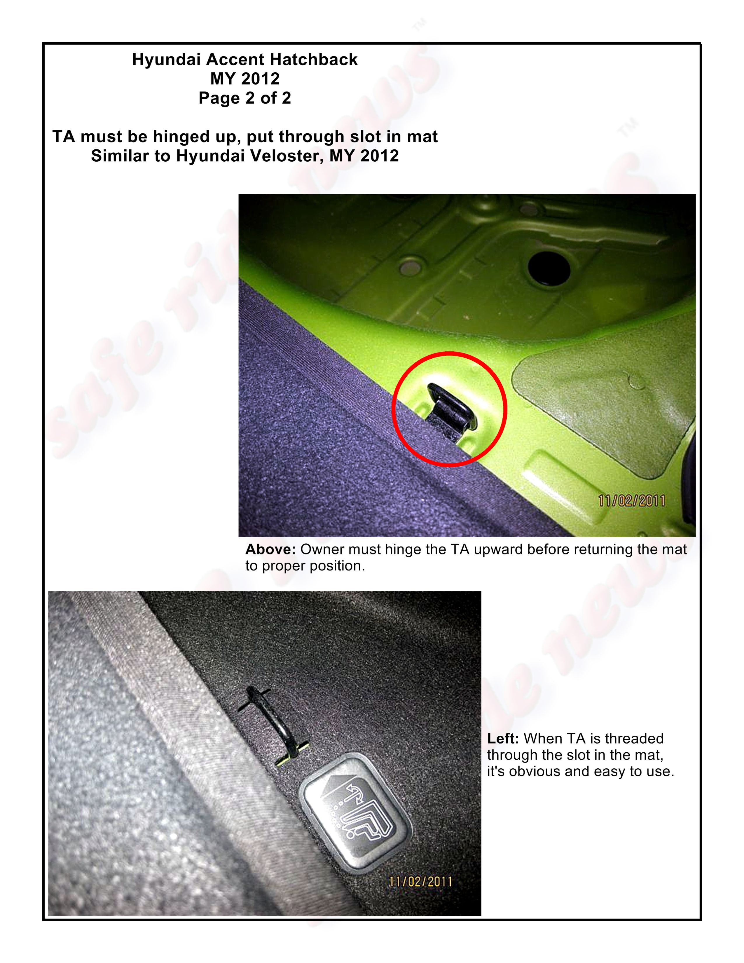Hyundai Veloster and Accent Hatchback, MY 2012, Page 2 of 2