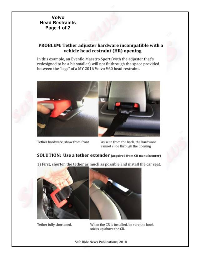 Volvo Head Restraints Page 1 of 2