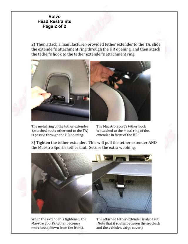 Volvo Head Restraints Page 2 of 2