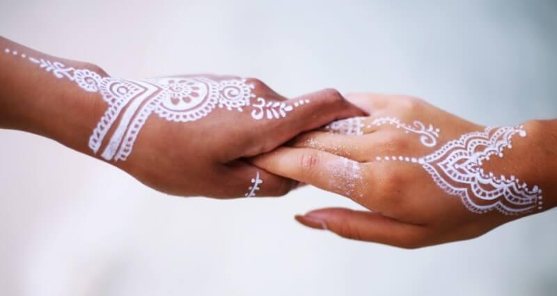 couple henna putih