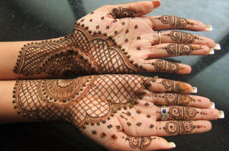 henna telapak tangan kombinasi