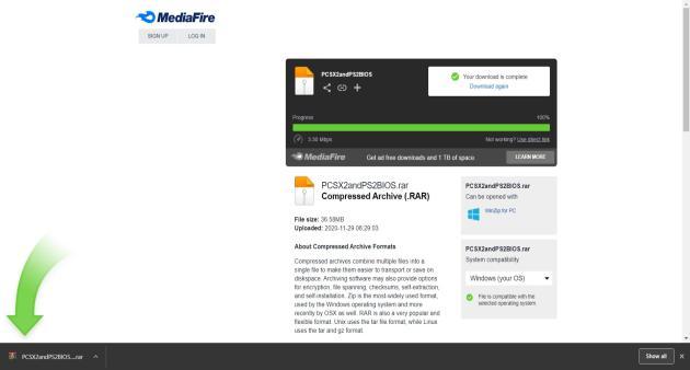PS2 BIOS MediaFire