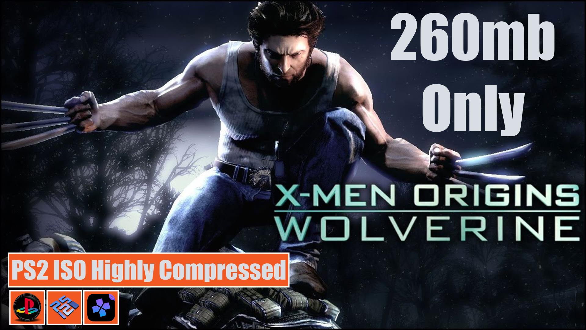 X-Men Origins Wolverine PS2 ISO Highly Compressed