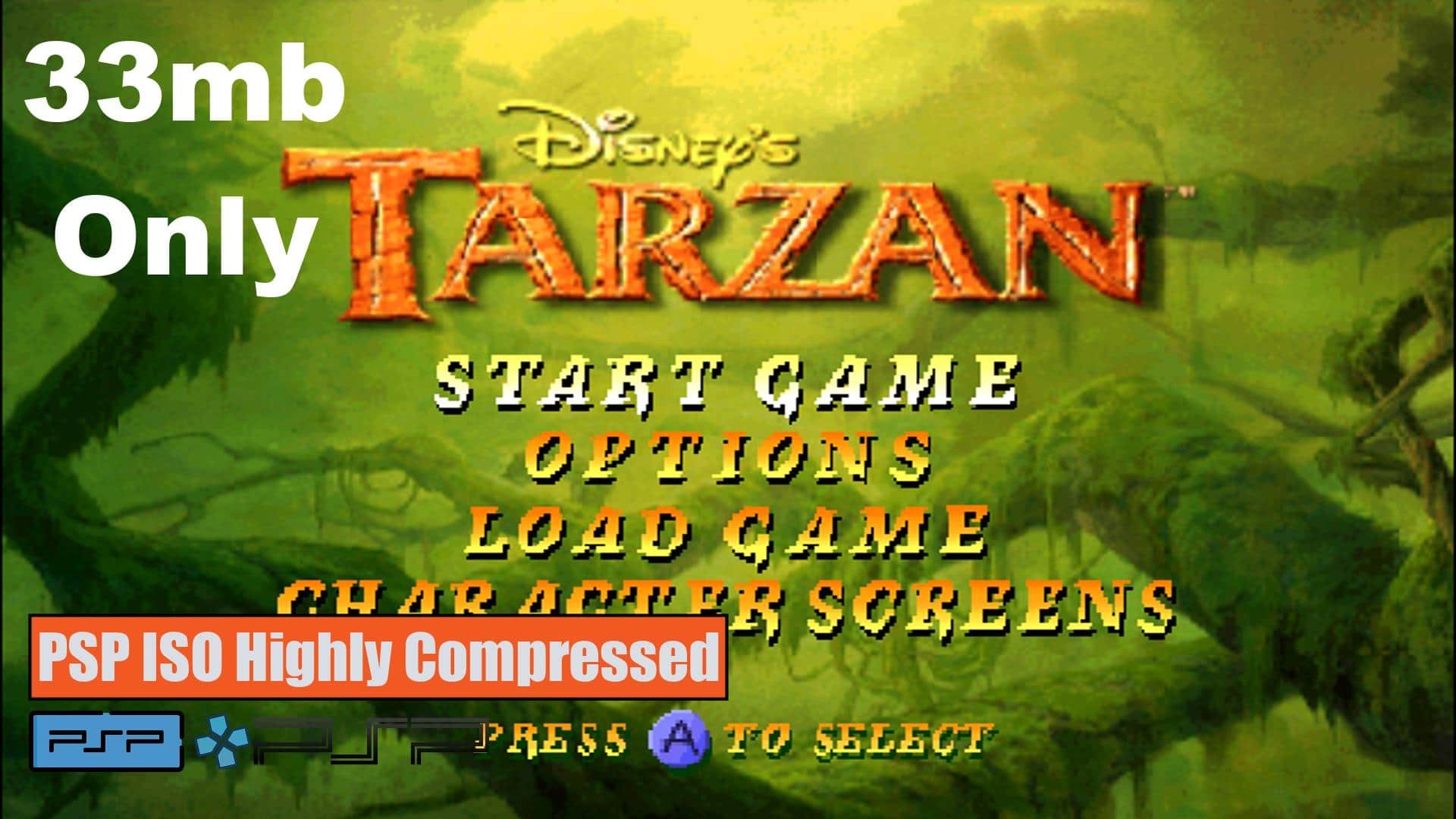 Disney Tarzan PSP ISO Highly Compressed