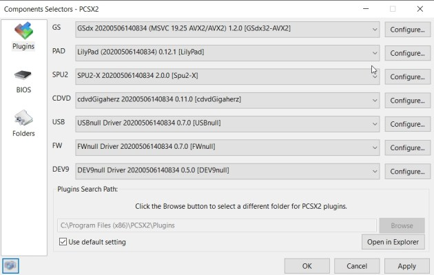 PCSX2 Plugins Best Settings