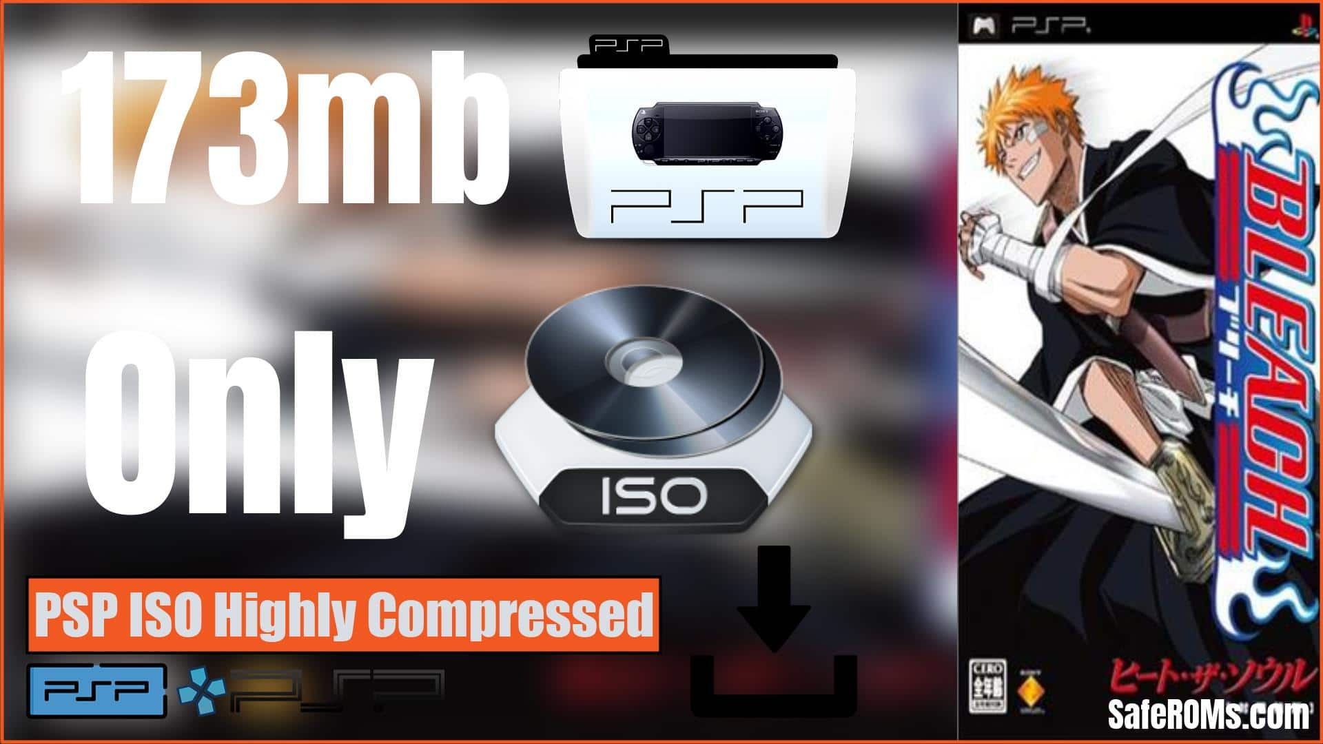 Bleach Heat the Soul PSP ISO Highly Compressed