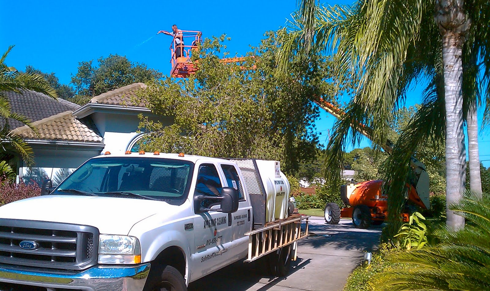 Apple Tile Roof Cleaning Tampa Florida 813 655 8777