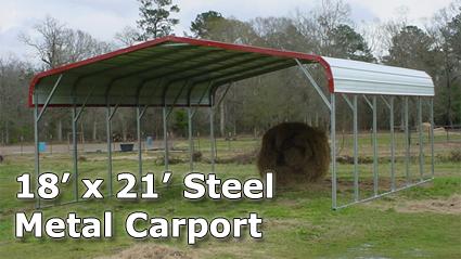 18 X 21 Steel Metal Carport Storage Building Installation Included