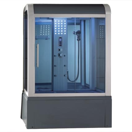 Zen Brand New Modern Steam Shower With Jetted Bathtub