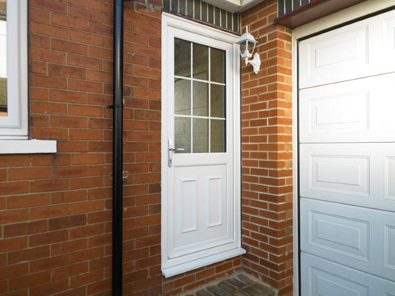 UPVC Half Glazed Exterior Doors Safestyle UK