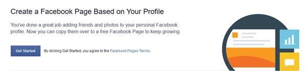 facebook profile into page migration