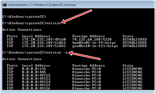 netstat cmd command