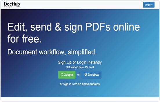 Dochub.com online PDF text editor