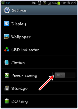 Turn On Power Saver Mode android