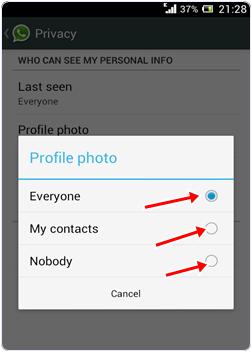 Hide Whatsapp Profile Picture