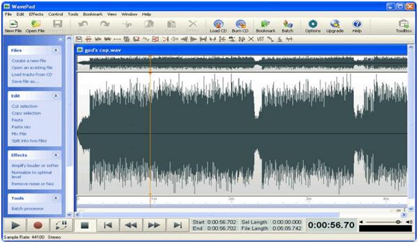 Wavepad PC Software