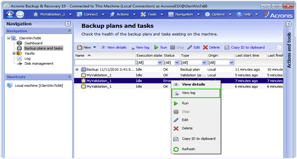 Acronis Backup PC Software