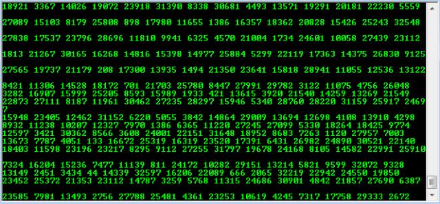 falling matrix notepad