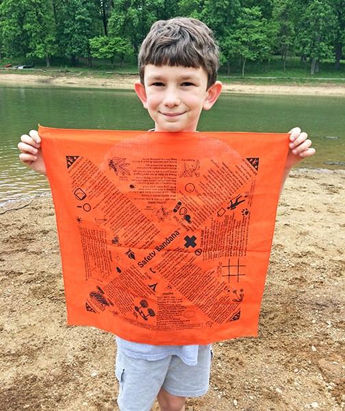 Orange bandana front