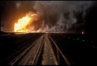 Kuwait oil fire on the horizon