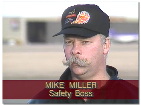 Michael Miller during an interview on the Kuwait gulf war response