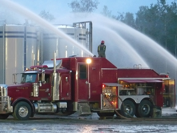 Smokey Series fire truck responded to an emergency well control in British Columbia