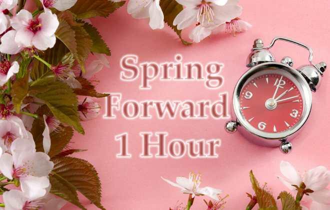 Daylight Savings - Spring Forward 1 Hour