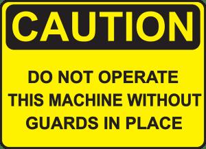 guard against machine injuries