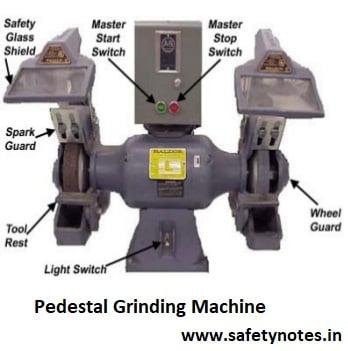 pedestal grinding machines safety