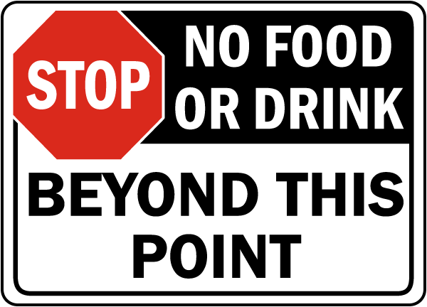 Image result for no food or drink