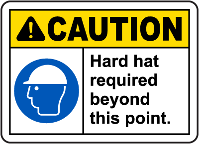 Hard Hat Area Signs Osha Ansi Compliant Made In The Usa