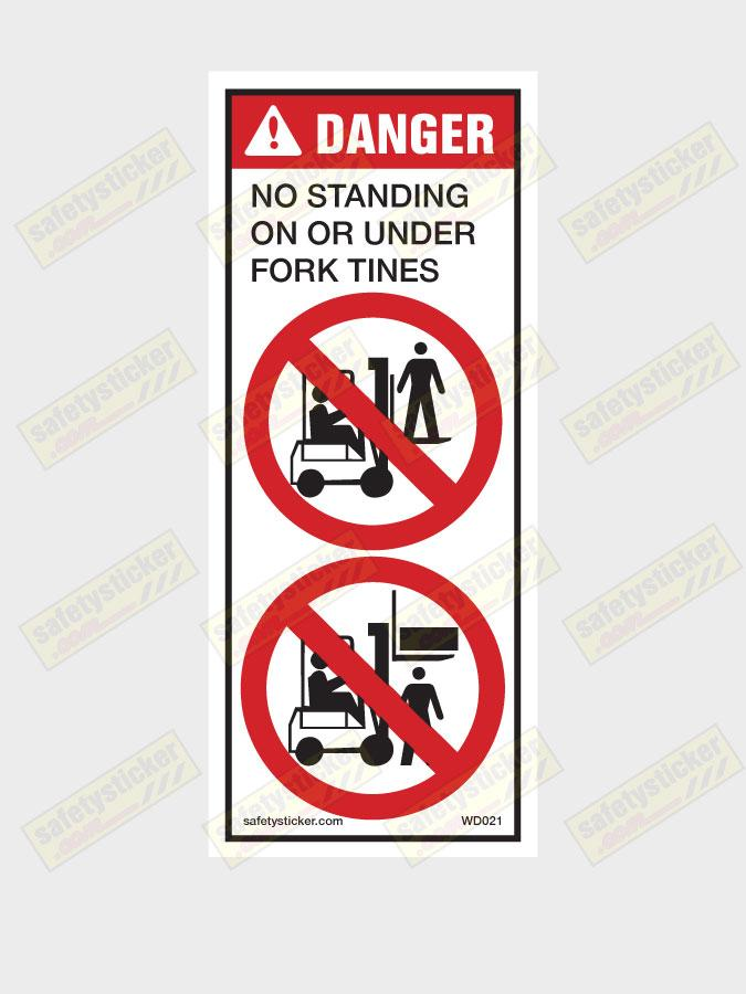 Warning Forklift Pictorial Decal Safety Stickers