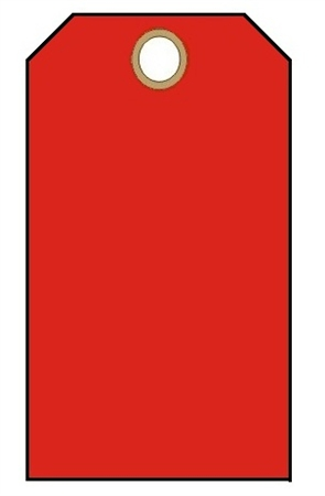 BLANK RED Tags 100PK With Fasteners