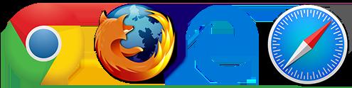 Supports Chrome, Firefox, Internet Explorer, Edge and Safari