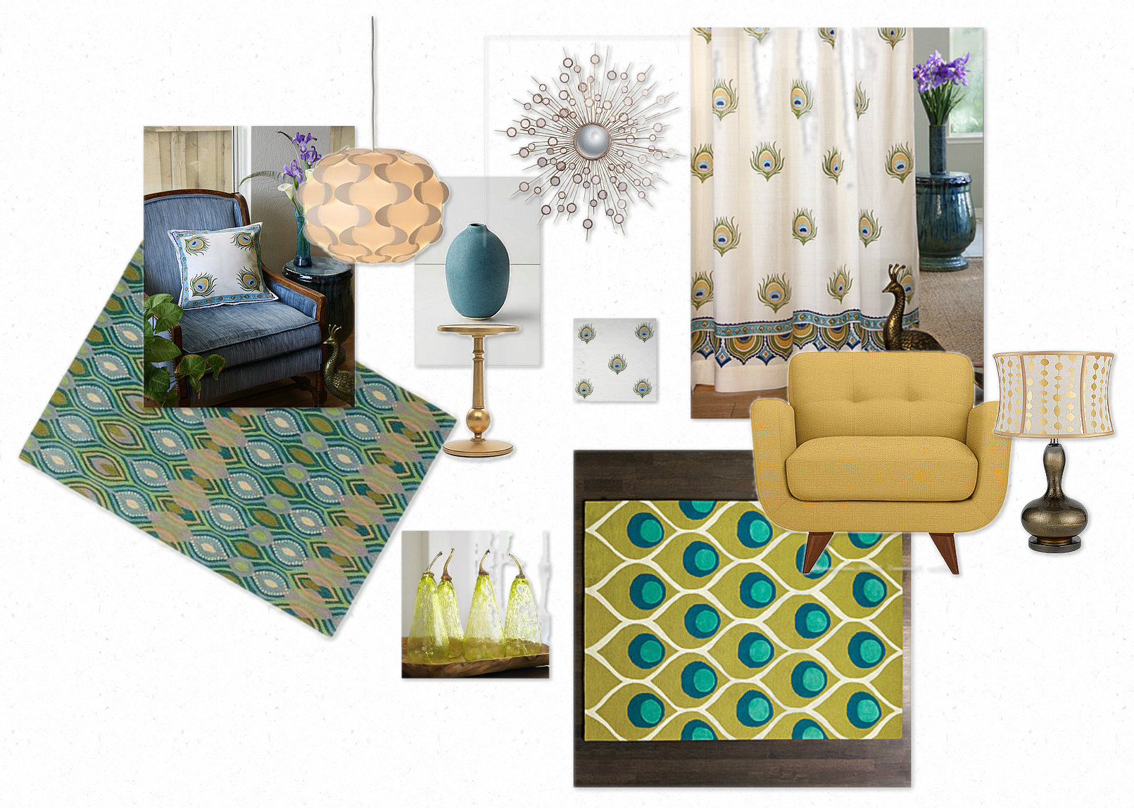 Ideas For A Peacock Inspired Living Room