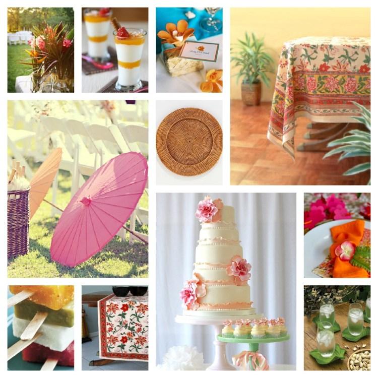 ideas for a tropical wedding