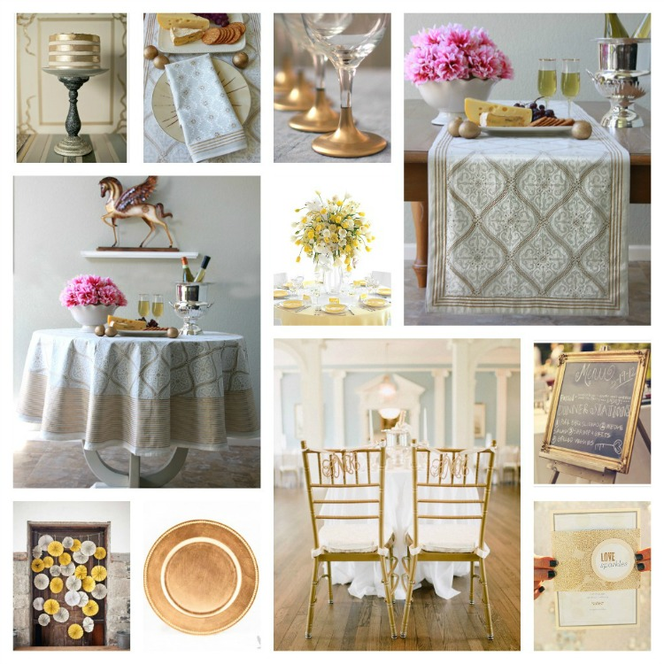 Celebrate Love: Ideas For An Elegant White And Gold