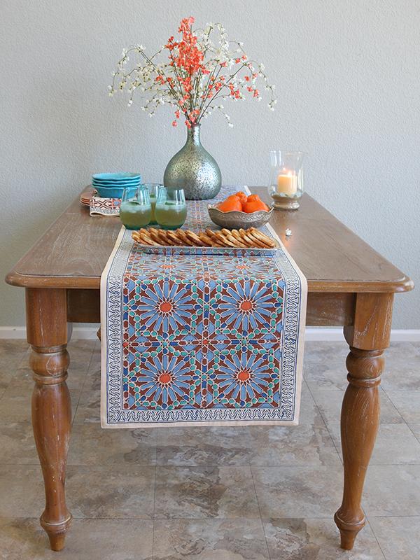 Fresh Mosaique Bleue Dinner Napkins Mosaique Bleue Table Runner