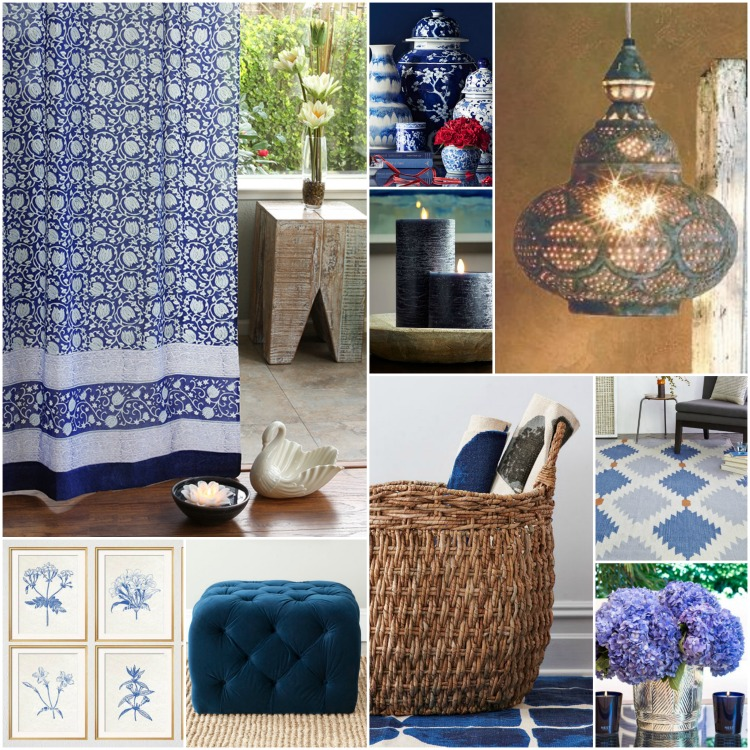 Design A Bright Blue And White Living Room Saffron Marigold