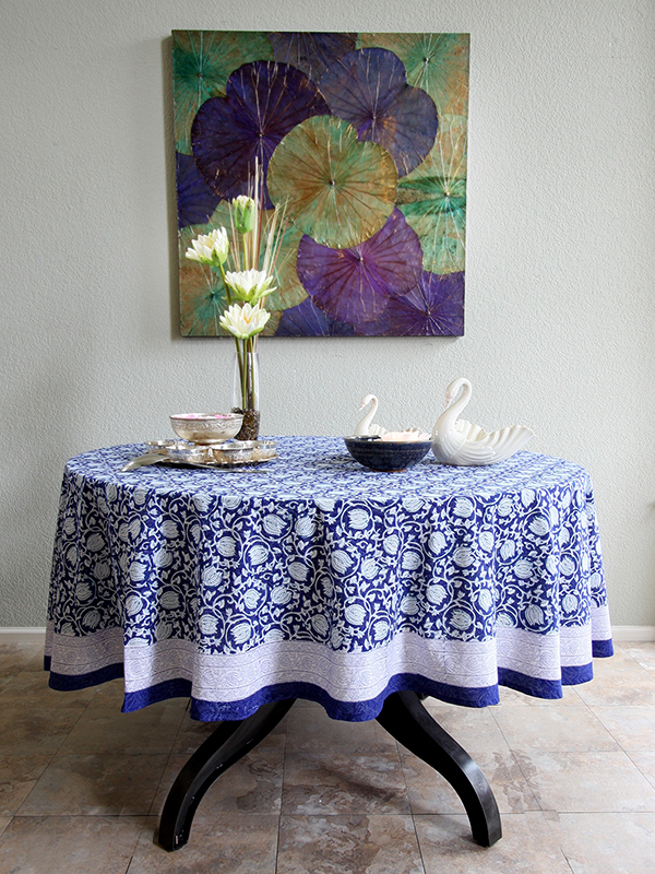Style A Fresh Blue And White Dining Room Saffron Marigold