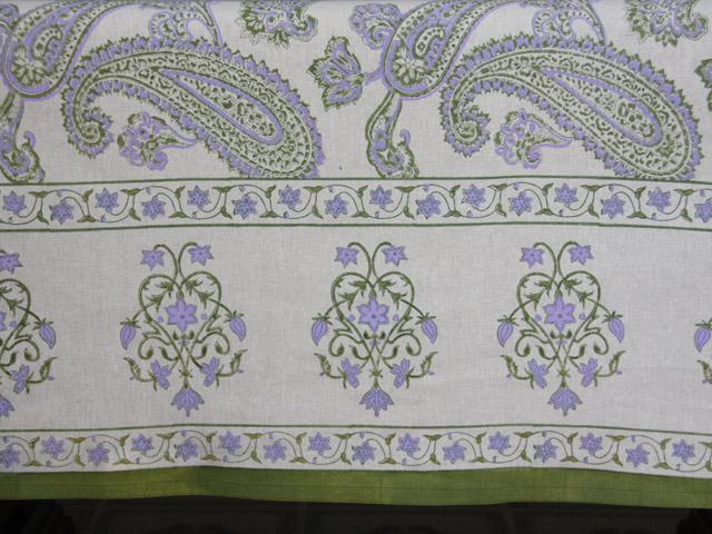 Paisley Curtain Panel Cream Saffron Marigold