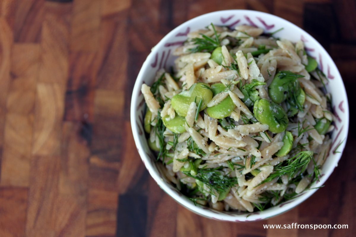 Fava Bean and Dill Orzo