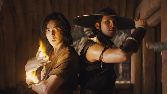 "LUDI LIN as Liu Kang and MAX HUANG as Kung Lao in New Line Cinema's action adventure ""Mortal Kombat,"" a Warner Bros. Pictures release. Photo Courtesy Warner Bros. Pictures"