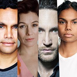 Firebite cast announcement: Rob Collins, Yael Stone (photo credit Alex Vaughan), Callan Mulvey and Shantae Barnes-Cowan