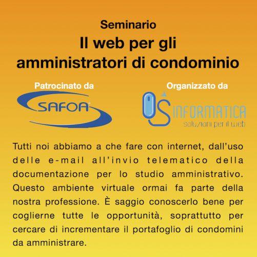 Locandina web per gli amministratori di condominio
