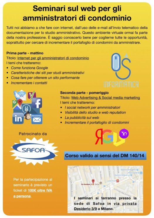Seminario internet per gli amministratori di condominio