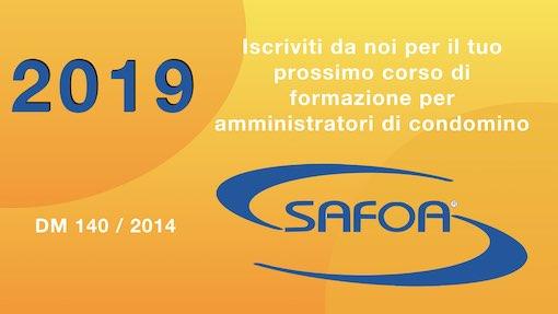 Iscrizione ai corsi Safoa per l'aggiornamento degli amministratori di condominio