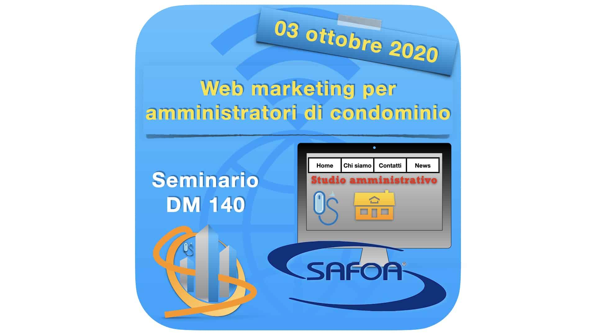 Seminario DM 140 Web marketing per amministratori di condominio